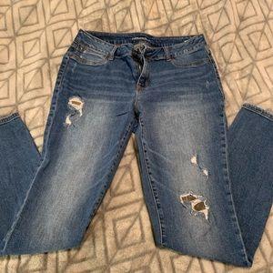 Camp Distressed Skinny Jeans